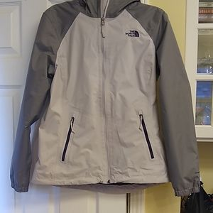 The North face, lined hooded rain jacket. Sz m